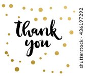 calligraphy print   thank you.... | Shutterstock .eps vector #436197292