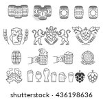 vector beer bundle for any use | Shutterstock .eps vector #436198636