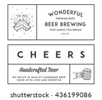 vector beer illustrations for... | Shutterstock .eps vector #436199086