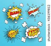 set of comic sound effects.... | Shutterstock .eps vector #436199812