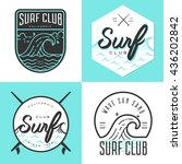 set of logo  badges  banners ... | Shutterstock .eps vector #436202842