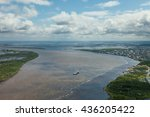 great river in spring  top view | Shutterstock . vector #436205422