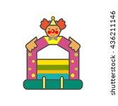bouncy castle line icon | Shutterstock .eps vector #436211146