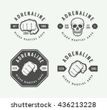 set of vintage mixed martial... | Shutterstock .eps vector #436213228
