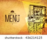 restaurant menu design. vector... | Shutterstock .eps vector #436214125
