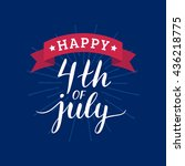 vector 4th of july greeting... | Shutterstock .eps vector #436218775