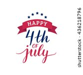vector 4th of july typography... | Shutterstock .eps vector #436218796