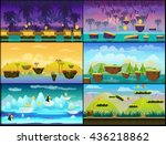 game background vector seamless ... | Shutterstock .eps vector #436218862