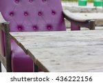 old wooden tables and chairs...