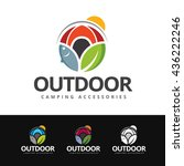 logo of outdoor elements in...   Shutterstock .eps vector #436222246