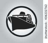 ship icon with circle   ship... | Shutterstock .eps vector #436222762