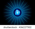 abstract digital number... | Shutterstock .eps vector #436227502