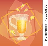 refreshing drink in frame in... | Shutterstock .eps vector #436233592