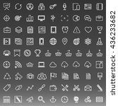 set of 81 thin line icons.... | Shutterstock .eps vector #436233682