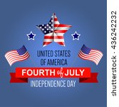 fourth of july poster.... | Shutterstock .eps vector #436242232