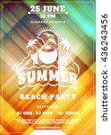 summer beach party flyer or... | Shutterstock .eps vector #436243456