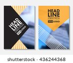 annual report cover design.... | Shutterstock .eps vector #436244368