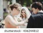 beautiful bride smiles | Shutterstock . vector #436244812