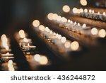 Many Candles Burning Church