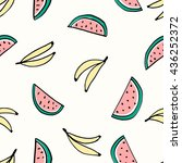 seamless repeating pattern with ... | Shutterstock .eps vector #436252372