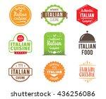 italian cuisine  authentic...   Shutterstock .eps vector #436256086
