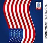 american flag on blue... | Shutterstock .eps vector #436260676