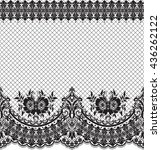 seamless lace pattern  flower... | Shutterstock .eps vector #436262122