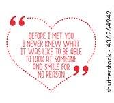 funny love quote. before i met... | Shutterstock .eps vector #436264942