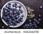 organic blueberries served in... | Shutterstock . vector #436266358