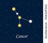 constellation cancer zodiac... | Shutterstock .eps vector #436269262