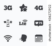 mobile telecommunications icons.... | Shutterstock .eps vector #436272922