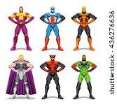 vector set of different... | Shutterstock .eps vector #436276636