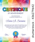 certificate template with... | Shutterstock .eps vector #436279642