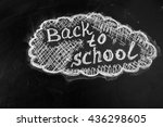 back to school background with... | Shutterstock . vector #436298605