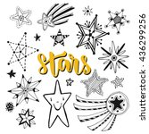 star doodles isolated set.... | Shutterstock .eps vector #436299256