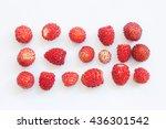 Macro View Wild Strawberry On...