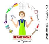 logo house remodel service  ...   Shutterstock .eps vector #436302715