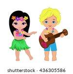 illustration of boy playing... | Shutterstock . vector #436305586