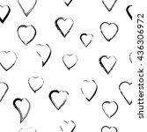 seamless abstract heart pattern | Shutterstock .eps vector #436306972