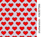 hearts pattern with one broken  ... | Shutterstock .eps vector #436307086