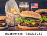 American Burger With Bacon...