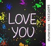 love you .vector calligraphic... | Shutterstock .eps vector #436316095