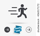 running sign icon. human sport... | Shutterstock .eps vector #436317172