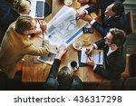 team meeting brainstorming... | Shutterstock . vector #436317298