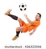 soccer football player kicking... | Shutterstock . vector #436323346
