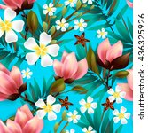 seamless floral pattern with... | Shutterstock .eps vector #436325926