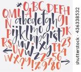 alphabet letters  lowercase ... | Shutterstock .eps vector #436338532