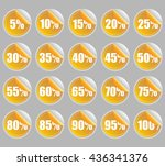 orange discount percent sticker ... | Shutterstock .eps vector #436341376