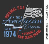 t shirt typography design  usa... | Shutterstock .eps vector #436354432