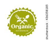 healthy food logo isolated on...   Shutterstock .eps vector #436358185